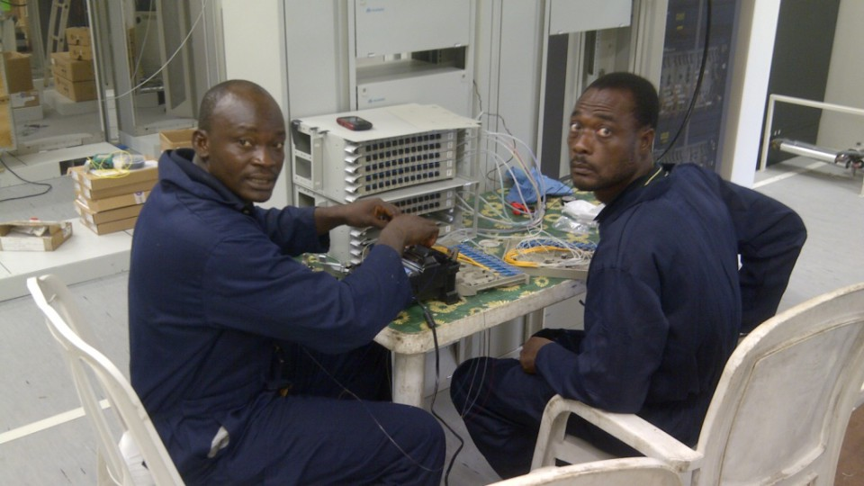 Fibre termination for terrestrial backhaul network for submarine cable system in Lagos