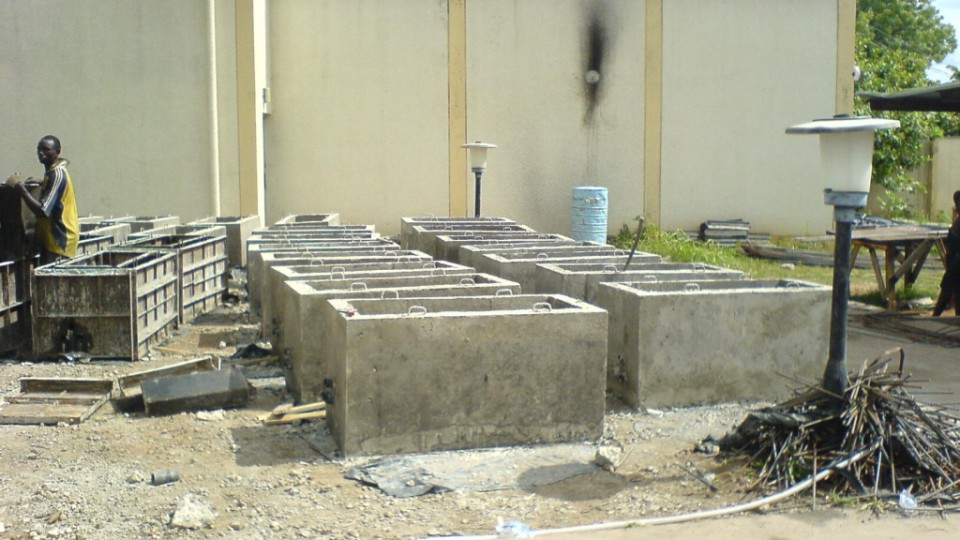 Production of precast concrete manholes for long haul fibre optic network infrastructure in Kaduna State